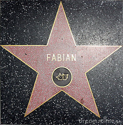 Fabian walk of fame star Editorial Stock Image
