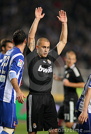Fabio Cannavaro of Real Madrid Editorial Stock Image