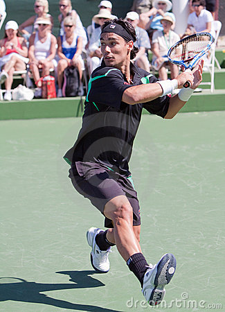 Fabio Fognini at the 2010 BNP Paribas Open Editorial Stock Image