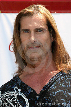 Fabio at a public appearance to promote the Epic Old Spice Challenge Editorial Stock Image