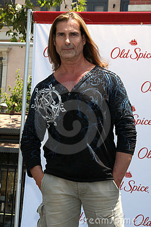 Fabio at a public appearance to promote the Epic Old Spice Challenge Editorial Image