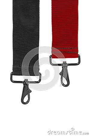 Fabric belt with lock