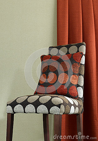 Fabric chair and cushion