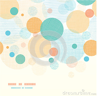 Free Fabric Circles Abstract Horizontal Seamless Stock Image - 31414491