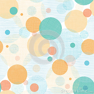 Free Fabric Circles Abstract Seamless Pattern Royalty Free Stock Image - 31414536