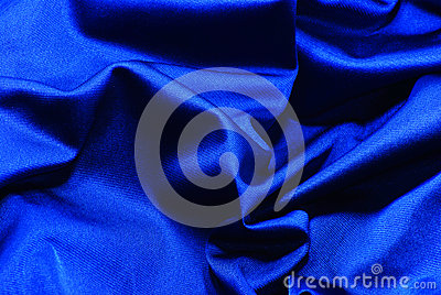 The fabric dark blue silk