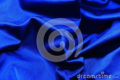 The fabric dark blue silk