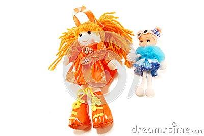 Fabric dolls toys