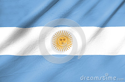 Fabric Flag of Argentina
