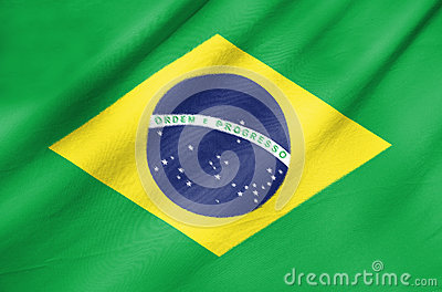 Fabric Flag of Brazil