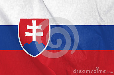 Fabric Flag of Slovakia