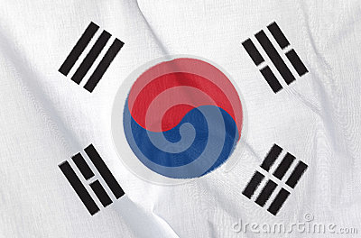 Fabric Flag of South Korea