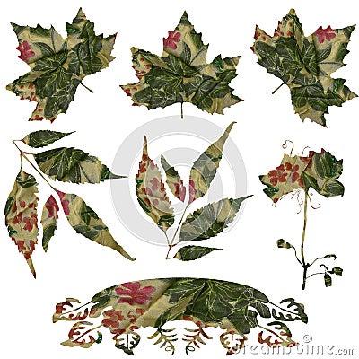 Fabric Leaf Flourish Set