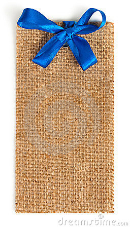 Fabric Tag  on White.