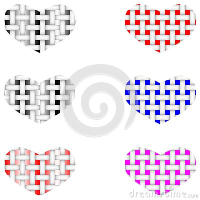 Fabric vector structure of the heart Stock Photo