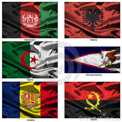 Fabric world flags collection 01