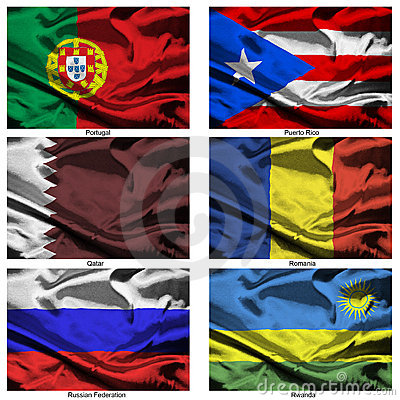 Fabric world flags collection 31