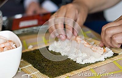 Fabricación del sushi