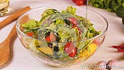 Fabrication d'une salade végétarienne