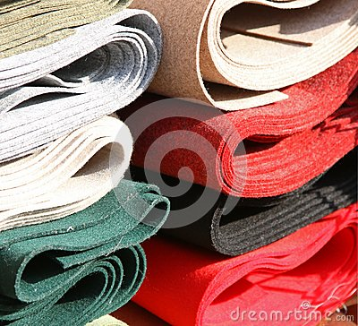 Free Fabrics For Sale In Haberdashery Stock Photography - 45858422