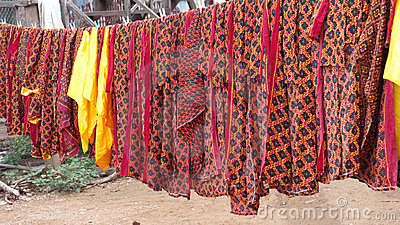 Fabrics with traditional Khmer patterns