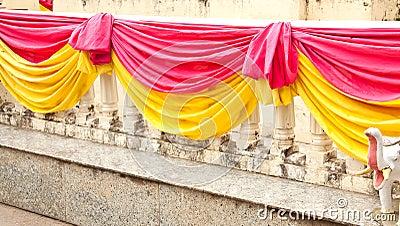 Fabrics used to decorate.