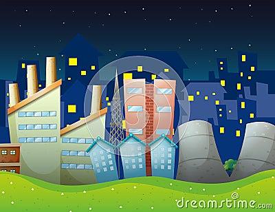 Fabriken nahe der Nachbarschaft