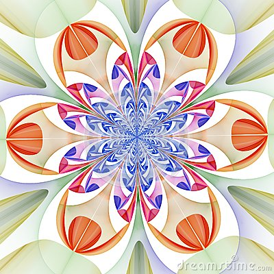 Free Fabulous Symmetrical Pattern Of The Leaves. Computer Graphics Stock Photos - 42945843
