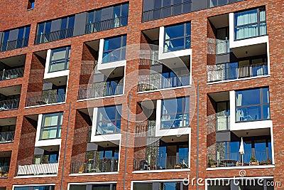 Attractive Modern Apartment Building Facade Modern Apartment Facade Stock Photo