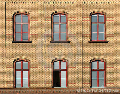 Facade of brick