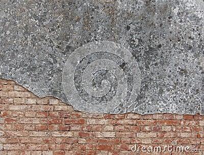 Facade and  brick wall