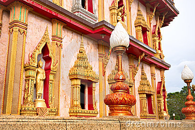 Facade of buddhist temple