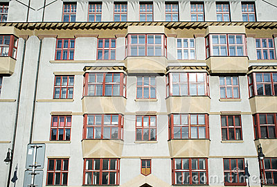 Cubist style palace in Prague