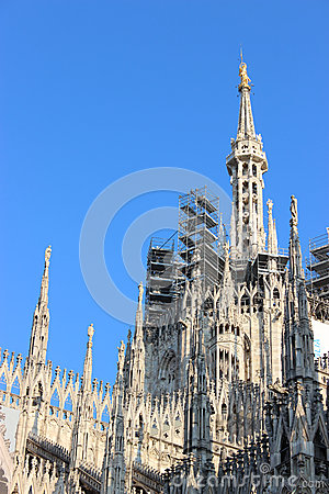 Free Facade Buttresses - Milan Cathedral Royalty Free Stock Photos - 54367148