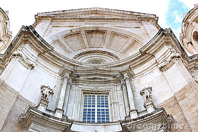 Facade of the Cathedral of Cadiz, Spain