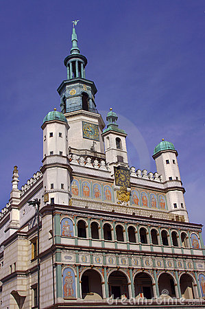 Facade of City Hall in Poznan