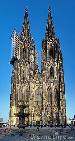 Facade of Cologne Cathedral, Germany Editorial Stock Photo