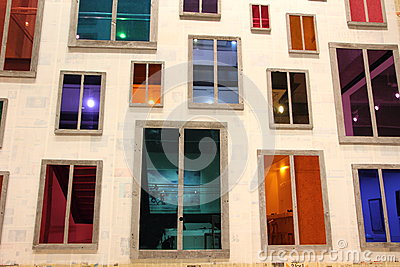 Window frontage artwork Editorial Stock Photo