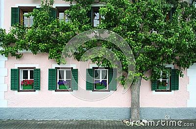 Facade of a European house