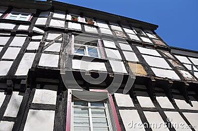 Facade of Fachwerkhaus in Germany