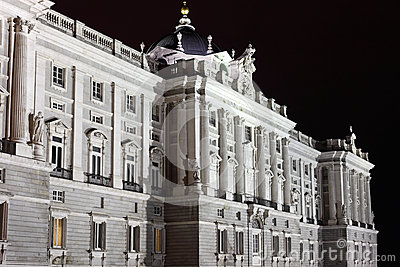 Facade of grandiose and majestic Royal Palace