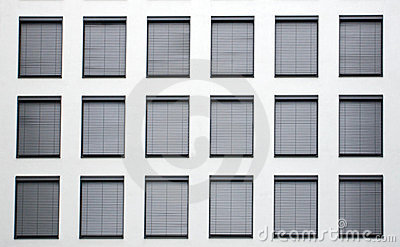 Facade with grey shutters