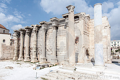 Hadrian Library Athens Greece