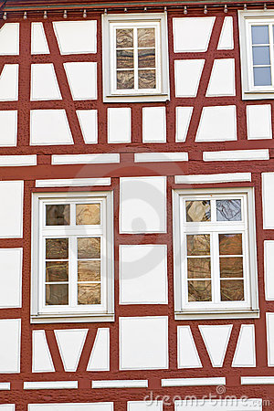 Facade of a half-timbered house, Germany