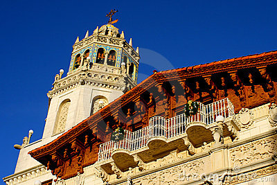 Facade of Hearst Castle Editorial Photography