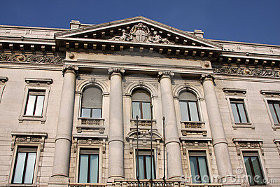 Facade of an historical building