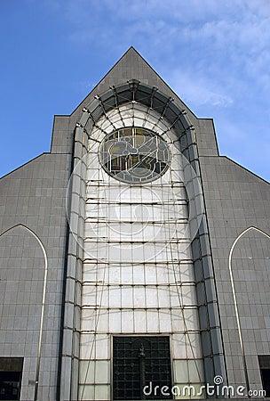 Facade of historical church, Lille.