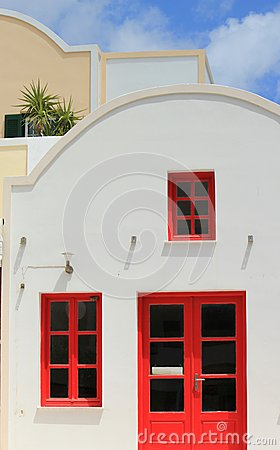 Facade of a house, Santorini, Greece