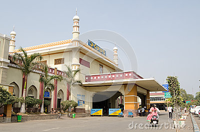Facade, Hyderabad Railway Station Editorial Stock Photo