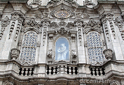 Facade of Igreja do Carmo in Porto, Portugal